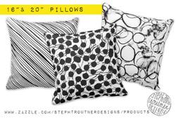 Bold Pillows in black & white