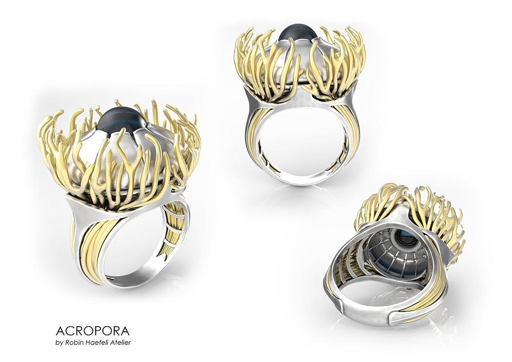 """Heureux de vous présenter """"Acropora"""": ma proposition au concours Bijorhca Jewellery Awards à Paris!!!  Sur le thème de la protection des océans en partenariat avec le WWF ! https://www.bijorhca.com/…/a…/bijorhca-jewellery-awards.html"""