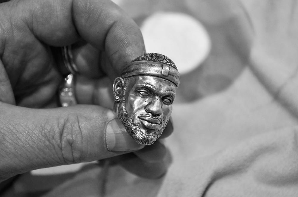 Lebron James Ring Portrait by Robin Haefeli / HRjewelry Geneva