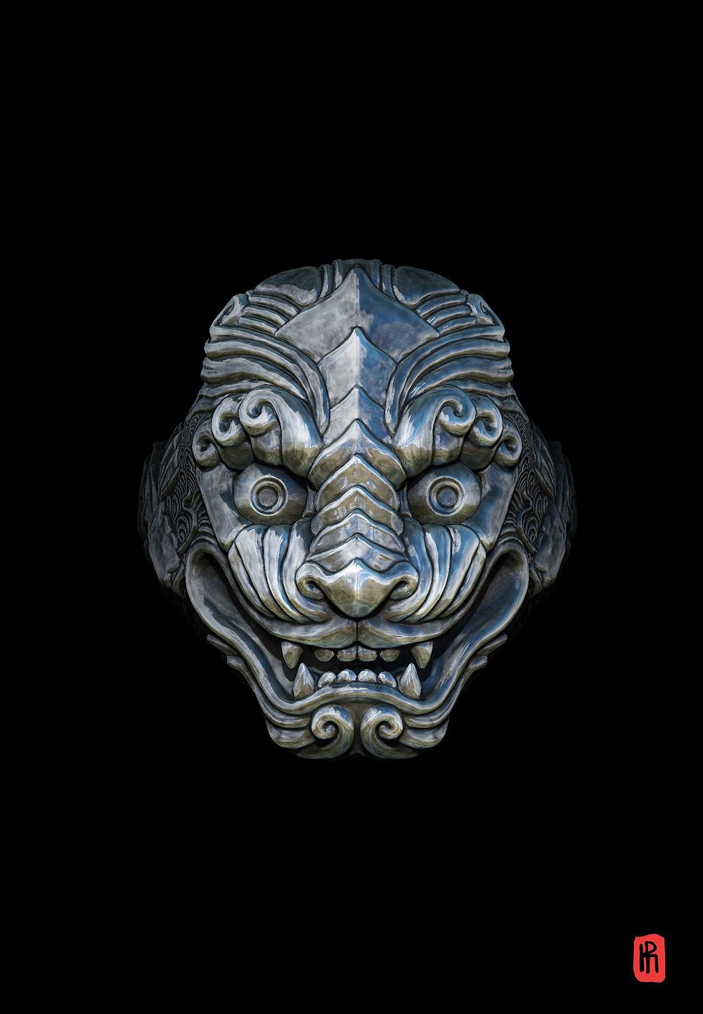 Oni Demon, ZBrush Genève, HRjewelry, Bijoux Homme, Zbrush