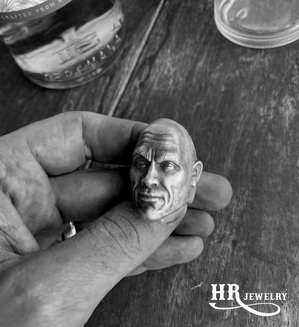 Bague Portrait pour Mr. The Rock Dwayne Johnson / HRjewelry Geneva