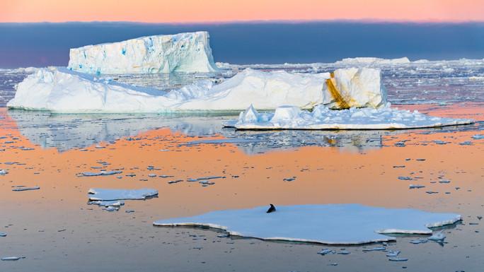 Sunset over Antarctica