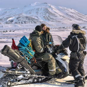 Snowmobile expedition, Svalbard
