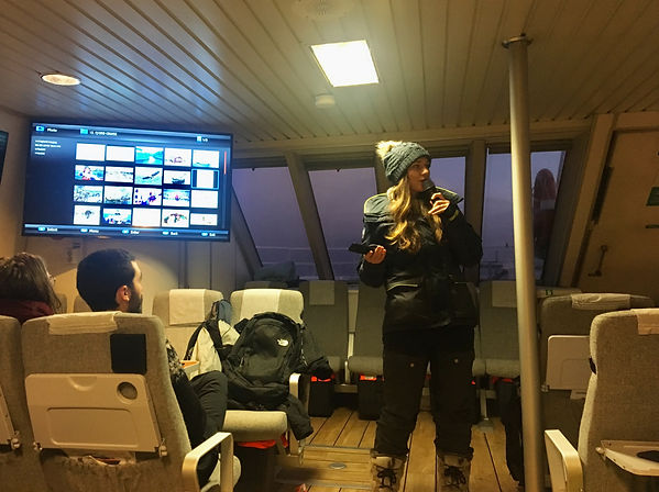 While on a talk on the boat
