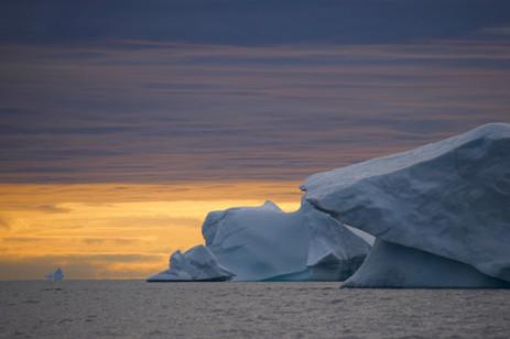 Coucher de soleil sur le Groenland