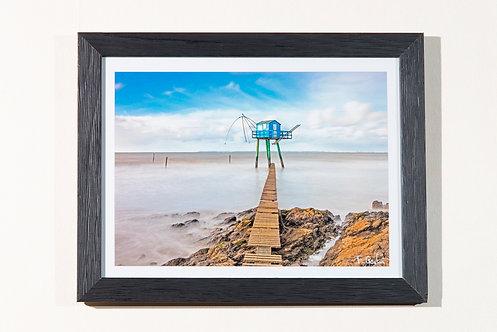 Pêcherie bleue 18X24 cm