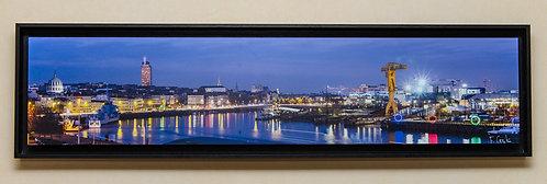 Nantes à l'heure bleue 25X95 cm