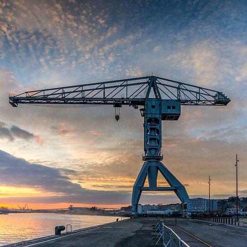 Nantes - Quai des Antilles 90X90 cm