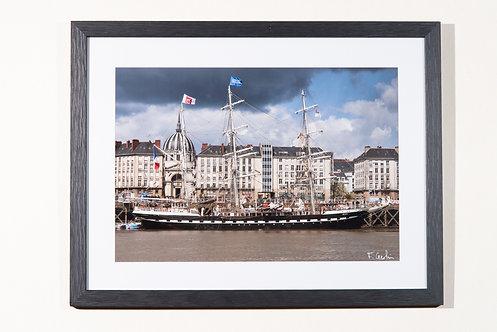 Nantes - Le Belem à quai 18X24 cm
