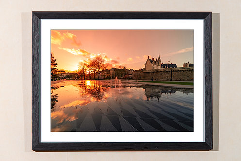 Nantes - Coucher de soleil 30X40 cm