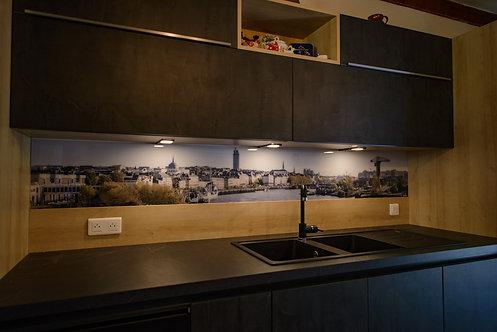 Crédence de cuisine sur mesure 33 x 240 cm