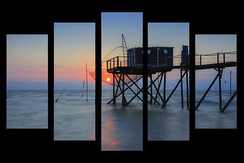 Le soleil dans le filet en multi-panneaux 68 x 102 cm