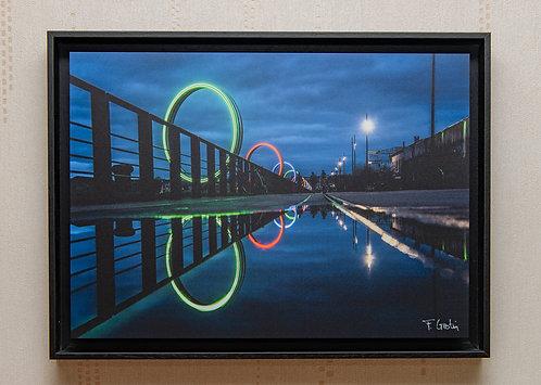 Reflets à l'heure bleue 35X48 cm