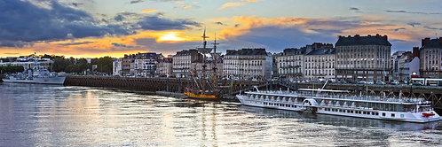 Nantes - Les Quais 53X160 cm