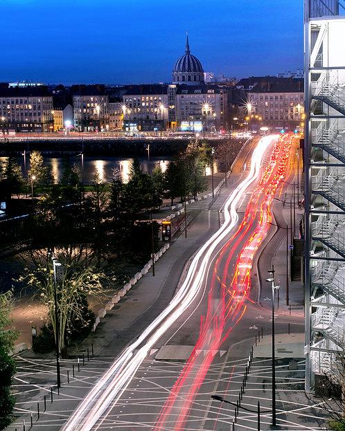 Nantes - Pont Anne de Bretagne 90X110 cm