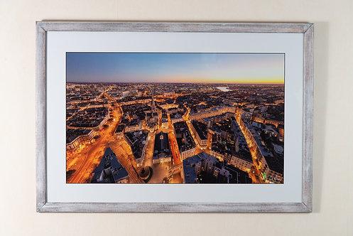 Nantes - Vue de nuit 50X60cm