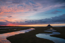 Sunset, Mont-Saint-Michel
