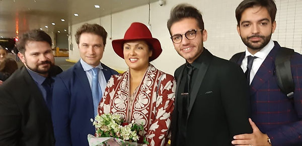 The four italian tenors with Anna Netreb