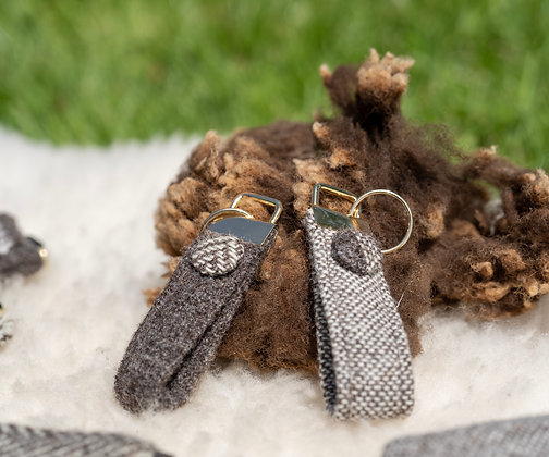 Tweed Key Ring
