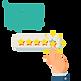 customer giving rating
