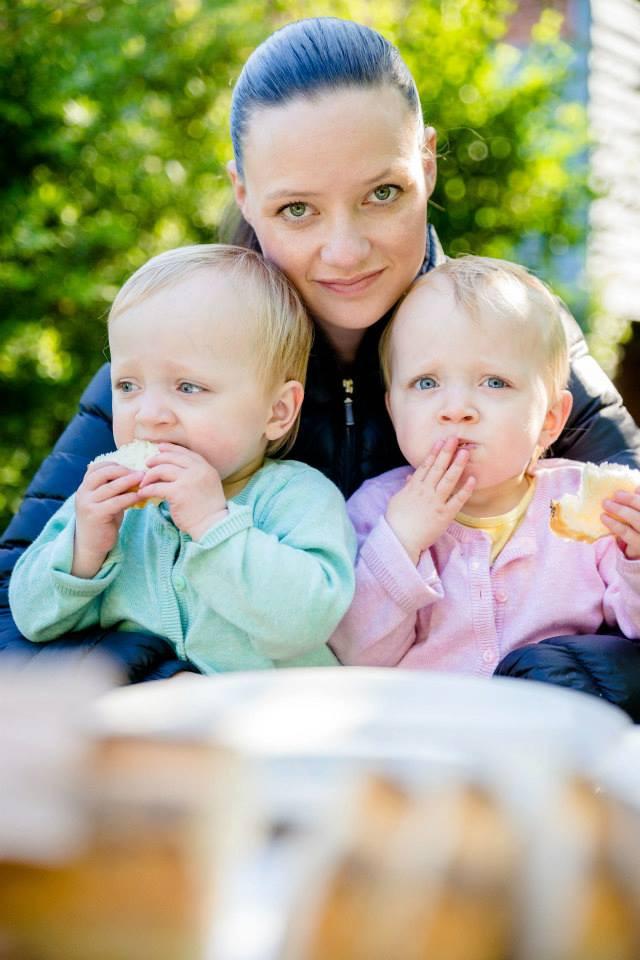 Majbrit Kirkegaard med hendes tvillinger