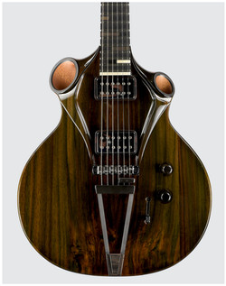 Kouai - Thierry Andre Instruments - electric guitar hollow-body rosewood top