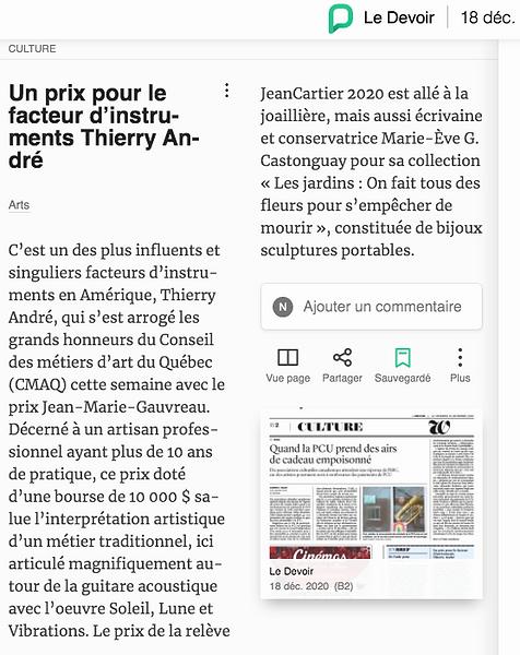 Thierry Andre-Prix Jean-Marie Gauvreau 2020
