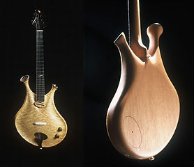 Zyra - Electric guitar hollow-body, Thierry Andre Instruments