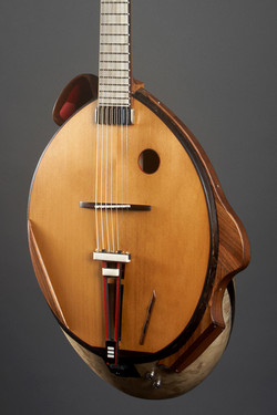 PO - Thierry Andre Instruments - etude for extended body acoustic guitar - goatskin body -short scal
