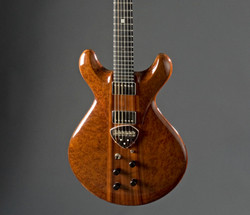 Goldorak - Thierry Andre Instruments - holow-body electric guitar - camphor burl padauk and mahogany