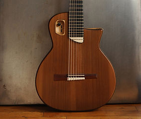 JM7-Electric-sized nylon 7 string guitar, Thierry Andre Instruments
