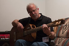 Greg-Franklin-with-Maya-bass-at-Woodstock-Invitational-luthier-showcase-2015