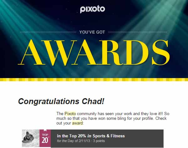 Pixoto Top 20% Sports & Fitness 2-11-13