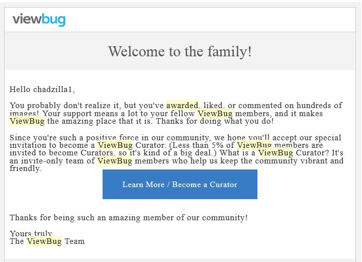 View Bug Asked to be a Curator Feb 2015