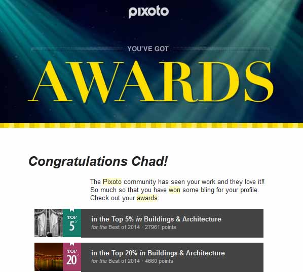 Pixoto Top 5% Best of 2014 Building & Architecture, Top 20% best of 2014 Building & Arch