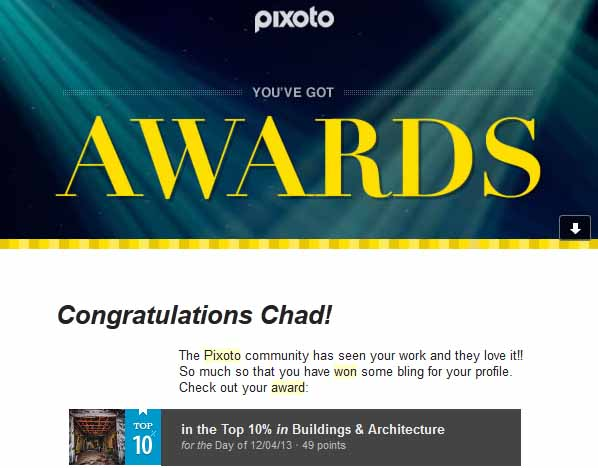 Pixoto Top 10% day Building & Architecture 12-4-13