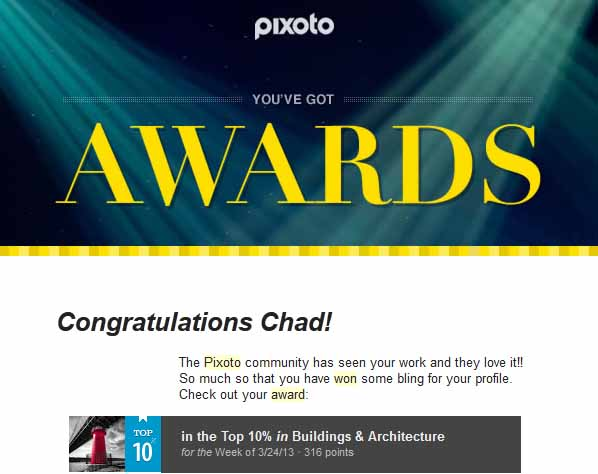 Pixoto Top 10%  week Building & Architecture 3-24-13