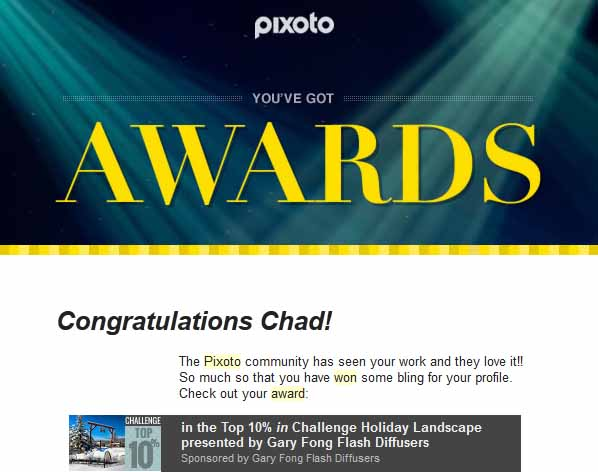 Pixoto Top 10% Challenge Holiday Landscapes Sponsored by Gary Fong