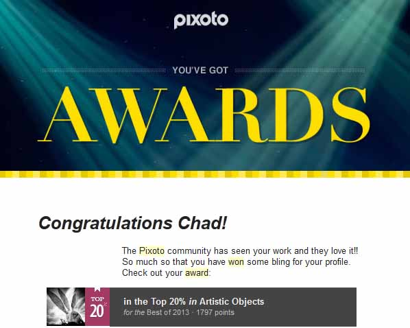 Pixoto Top 20% Best of 2013 Artistic Objects