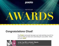 Pixoto Top 20% week Artistic Objects 3-10-13