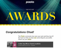 Pixoto Top 20% for the week Travel Locations 3-17-13