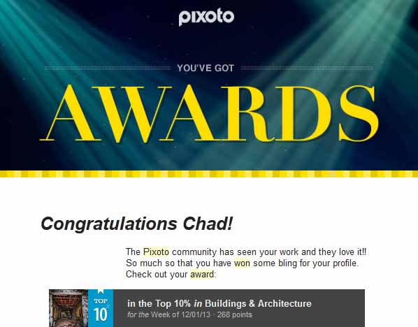 Pixoto Top 10% week Building & Architecture 12-01-13