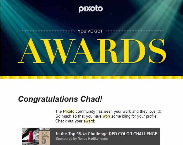 Pixoto Top 5% in Challenge Red Color 2015