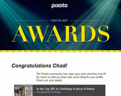 Pixoto Top 20% in Challenge A Piece of History 2014