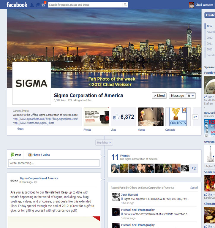Sigma FaceBook