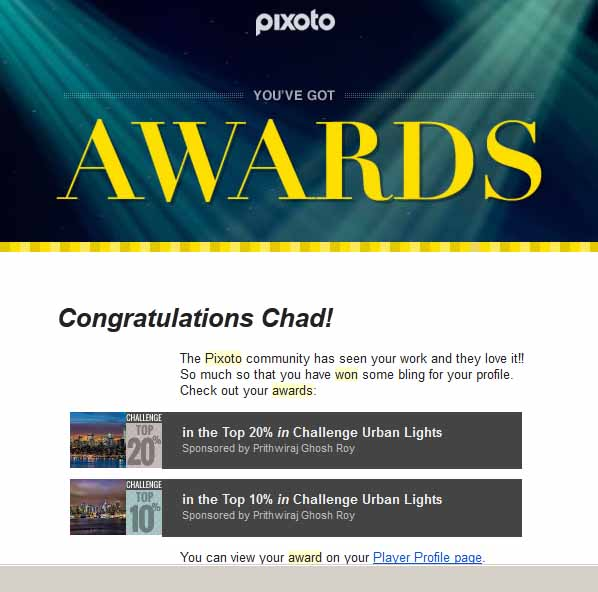 Pixoto Top 20% in Challenge Urban Lights, Top 10% in Challenge Urban Lights 2014