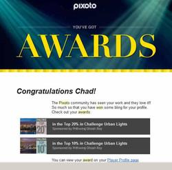 Pixoto Top 20% in Challenge Urban Lights, Top 10% in Challenge Urban Lights 2014
