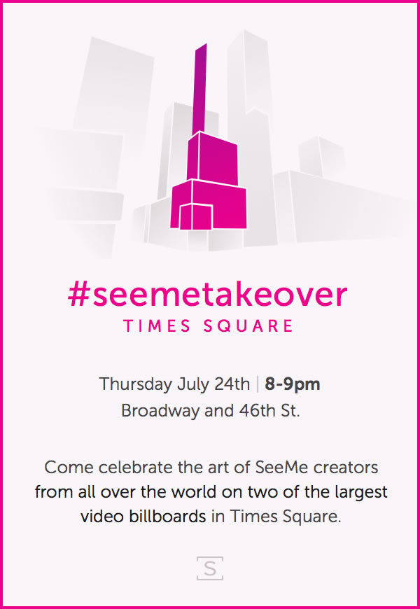#SeeMeTakeOver Times Square