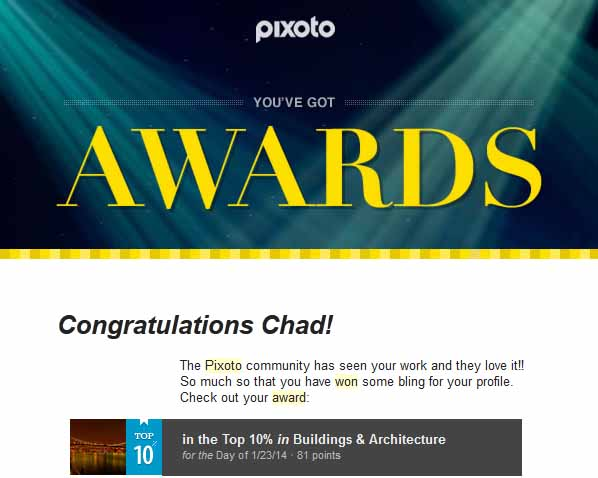 Pixoto Top 10% day Building & Architecture 1-23-14