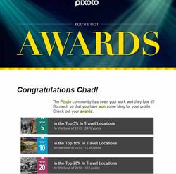 Pixoto Top 5% Best of 2013 Travel Locations, Top 10% Best of 2013 Travel Locations, Top 20% Best of